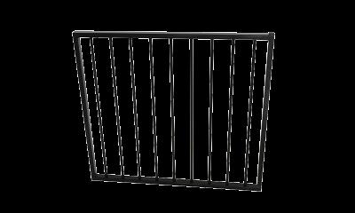 Aluminium Flat Top Garden Gate 975w X 900h Black