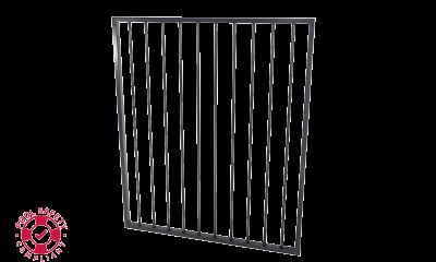 Aluminium Flat Top Gate 975w X 1200h Black