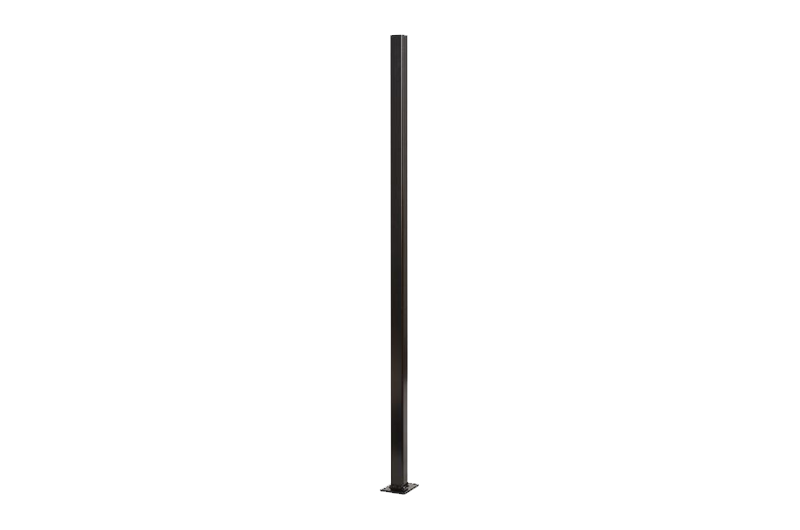Aluminium Post Flanged 50x50x1300 Black